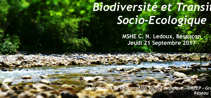Biodiversité et Transition Socio-Ecologique : observer, comprendre, agir
